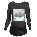 frogs in love copy.jpg Long Sleeve Maternity T-Shi