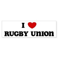 I Love Rugby Union Bumper Bumper Sticker