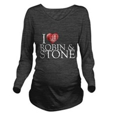 I Heart Robin & Stone Long Sleeve Maternity T-Shir