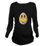 Smiley Easter Egg Long Sleeve Maternity T-Shirt