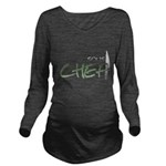Green Sous Chef Long Sleeve Maternity T-Shirt