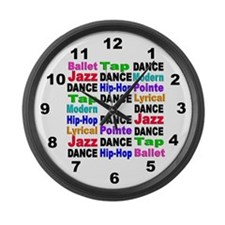 Dance Styles (#2) Large Wall Clock