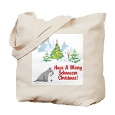 Christmas Miniature Schnauzer Tote Bag