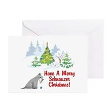 Christmas Miniature Schnauzer Greeting Cards (Pack
