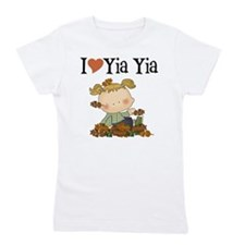 Autumn I Love Yia Yia Girl's Tee