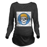 pirate skull colored copy.jpg Long Sleeve Maternit