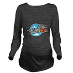 retro aeroplane jet.png Long Sleeve Maternity T-Sh