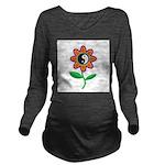 yinyangflower.jpg Long Sleeve Maternity T-Shirt