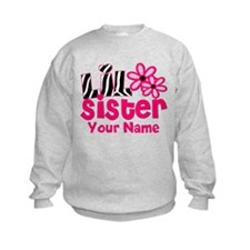 Little Sister Pink Zebra Sweatshirt