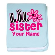 Little Sister Pink Zebra baby blanket