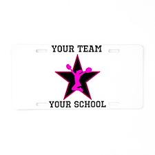 Custom pink and black cheerleading Aluminum Licens