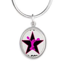Custom pink and black cheerleading Necklaces