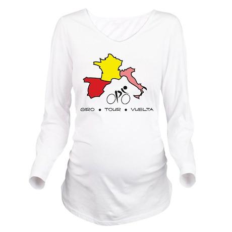 Grand Tour Maps Long Sleeve Maternity T-Shirt