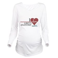 I Heart Grey's Anatomy Long Sleeve Maternity T-Shi