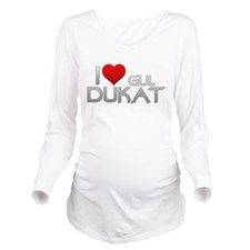 I Heart Gul Dukat Long Sleeve Maternity T-Shirt