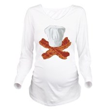 Bacon Chef Long Sleeve Maternity T-Shirt