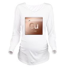 Copper (Cu) Long Sleeve Maternity T-Shirt