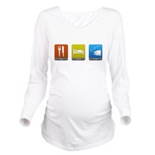 Eat, Sleep, Fish Long Sleeve Maternity T-Shirt