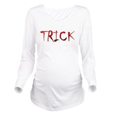 Bloody Trick Long Sleeve Maternity T-Shirt