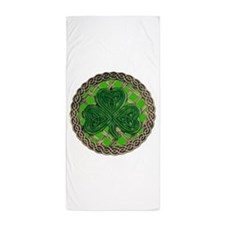 Shamrock And Celtic Knots Beach Towel