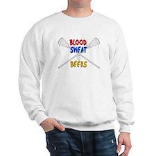 Lacrosse Blood Sweat and Beers Sweatshirt