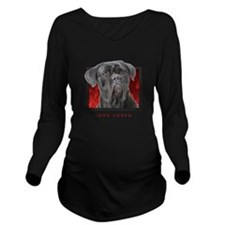 15-redblock.png Long Sleeve Maternity T-Shirt