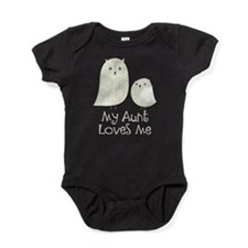 My Aunt Loves Me Owls Baby Bodysuit