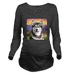 Malamute Meadow Long Sleeve Maternity T-Shirt
