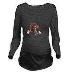 Cool Story Boxer Long Sleeve Maternity T-Shirt