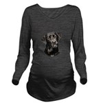 Mans Best Friend Long Sleeve Maternity T-Shirt