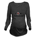 pawheart.png Long Sleeve Maternity T-Shirt