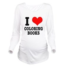 COLORING BOOKS.png Long Sleeve Maternity T-Shirt