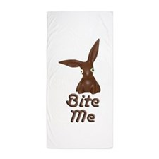 Bite Me Easter Chocolate Bunny Beach Towel