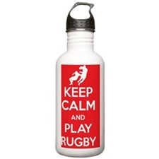 Keep calm and play rug Water Bottle