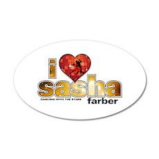 I Heart Sasha Farber 38.5 x 24.5 Oval Wall Peel