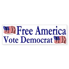Free America Vote Democrat (Sticker)
