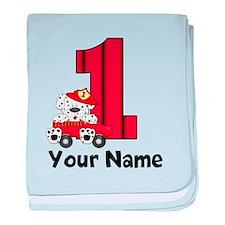 1st Birthday Dalmatian baby blanket