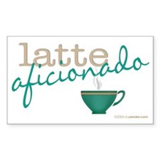 Latte Aficionado Rectangle Decal