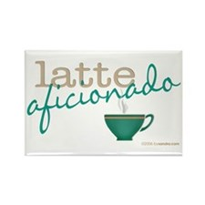 Latte Aficionado Rectangle Magnet (10 pack)