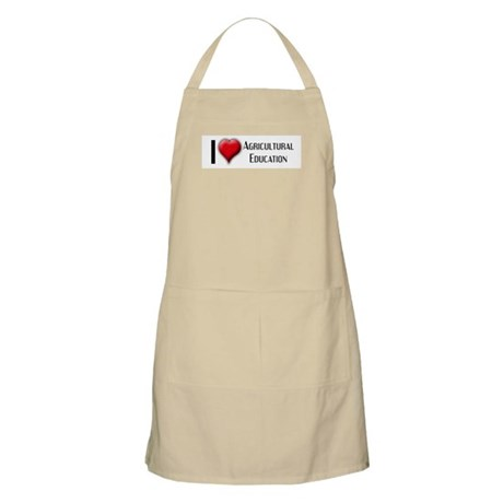 I Love (Heart) Agricultural E BBQ Apron