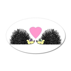 Cute Hedgehogs in Love Wall Decal