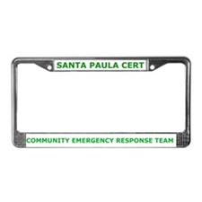 Santa Paula CERT License Plate Frame