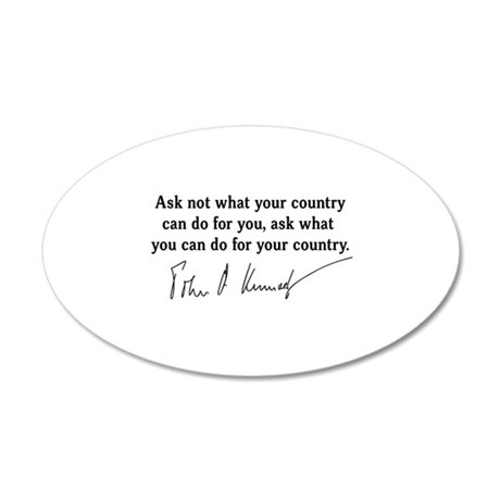 JFK Inaugural Quote 20x12 Oval Wall Decal
