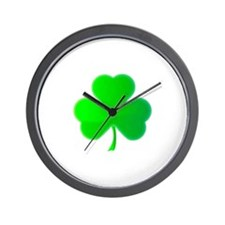 Green Shamrock Wall Clock