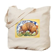 Armadillo Texas Rose Tote Bag