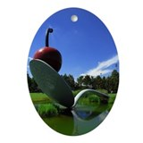 Cherry Spoon 3 Oval Ornament
