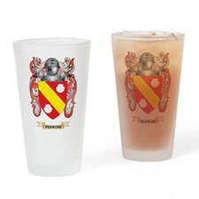 Perroni Coat of Arms (Family Crest) Drinking Glass