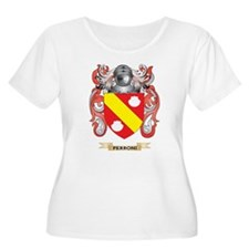 Perroni Coat of Arms (Family Crest) Plus Size T-Sh