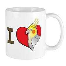 I heart cockatiels Small Mug