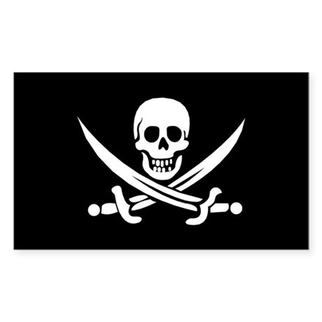 Old Jolly Roger Pirate Flag Sticker